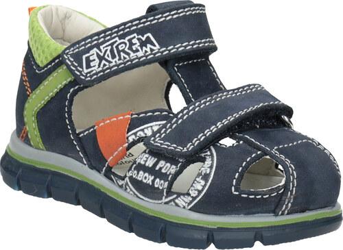 5bc012f34e073 Mini B Chlapčenské kožené sandále s potlačou - Glami.sk
