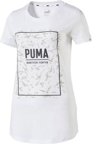 Dámské Tričko Puma FUSION Graphic Tee White White - Glami.sk 37a8134cce1