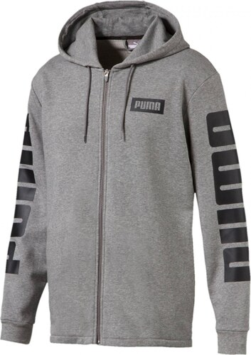 2b80402f8a3 Pánská Mikina Puma Rebel FZ Hoody TR Medium Gray Gray Heather - Glami.cz
