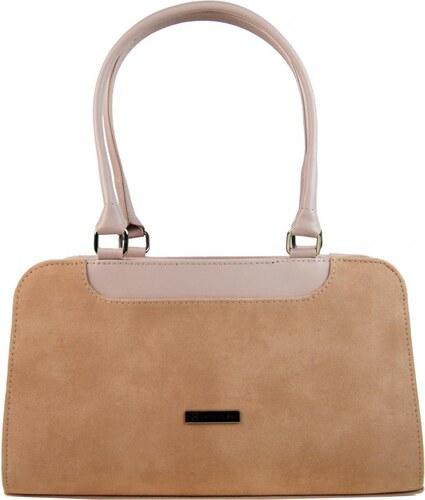 d954ba307e Růžovo-lososová elegantní dámská kabelka na rameno S728 GROSSO ...