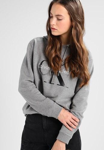 Dámská mikina Calvin Klein Jeans s kapucí - šedá - Glami.cz 216b7c0825