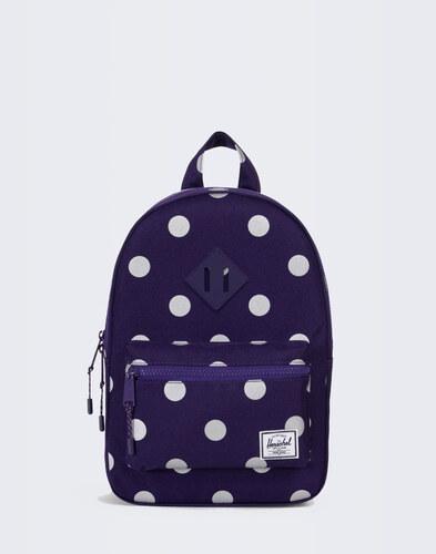 022e72a760e4 -30% Herschel Supply Heritage Kids Parachute Purple Polka Dot Parachute  Purple Rubber