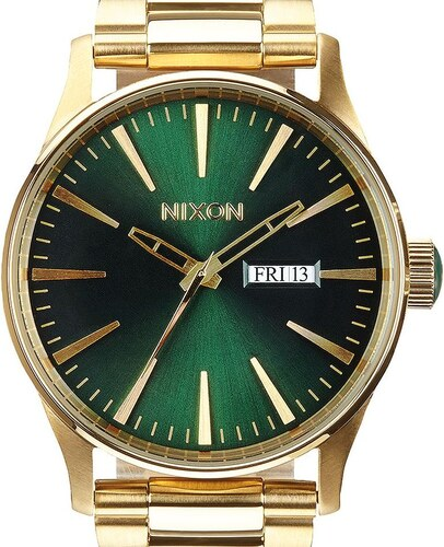 Hodinky Nixon Sentry SS Gold Green Sunray A3561919 - Glami.cz 8a90e1de08b