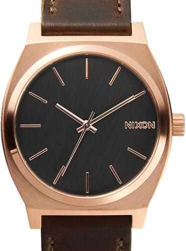 Hodinky Nixon Time Teller Rose Gold Gun Metal Brown A0452001 - Glami.cz f4c905782be