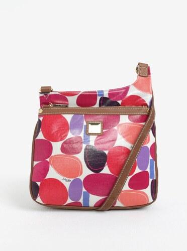 Krémová vzorovaná crossbody kabelka s koženými detailmi Liberty by Gionni  Paulina 94b55a43c5c
