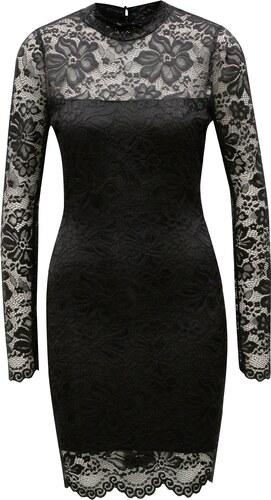 78f31bfd802 Černé krajkové pouzdrové šaty s dlouhým rukávem MISSGUIDED - Glami.cz