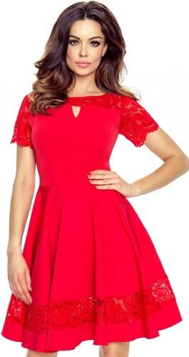 40946b9b9cca Červené šaty Bergamo Bianca s čipkou - Glami.sk