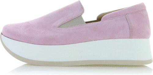 2cc37283267 Olivia Shoes Ružové kožené slip-on tenisky Tinsley - Glami.sk