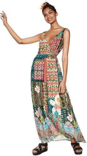 43e7d8fb95e3 Desigual barevné maxi šaty Jamaica - Glami.cz