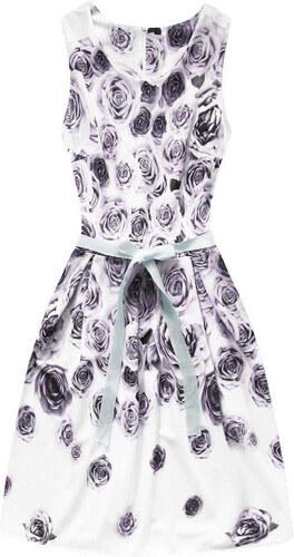 dac9036ffd MADE IN ITALY Dámské květinové šaty 2708