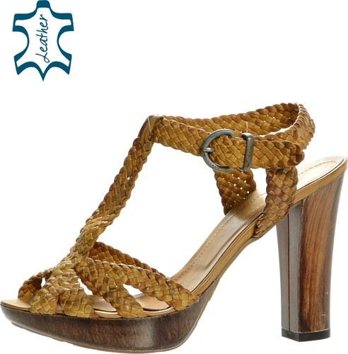 614080c2c473 OLIVIA SHOES Hnedé letné drevákové sandále 432016 - Glami.sk