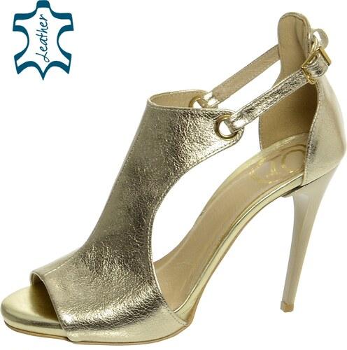 e1bd6fce0c20 OLIVIA SHOES Dámske zlaté elegantné sandále DSA003 - Glami.sk