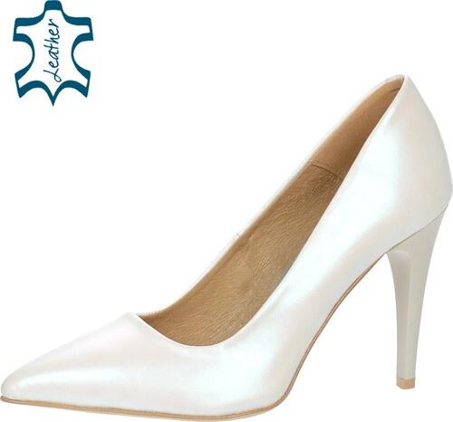 ca38febef OLIVIA SHOES Biele perleťové elegantné lodičky A944-1 - Glami.sk