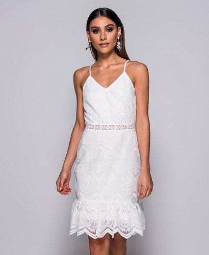 56b81523ce69 Parisian Letní bílé krajkové šaty ANABELL - Glami.cz