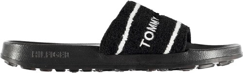 858b894a Tommy Hilfiger Embroidered Terry Pool Sliders Black 572877 - Glami.cz