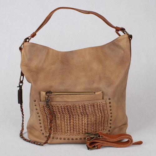 ALPINI Dámská velká kabelka na rameno i crossbody S035 hnědá ... aa412b5df2f