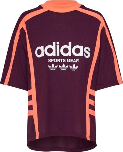 6026f99919c57 ADIDAS ORIGINALS Tričko 'TEE' tmavě oranžová / vínově červená / bílá ...