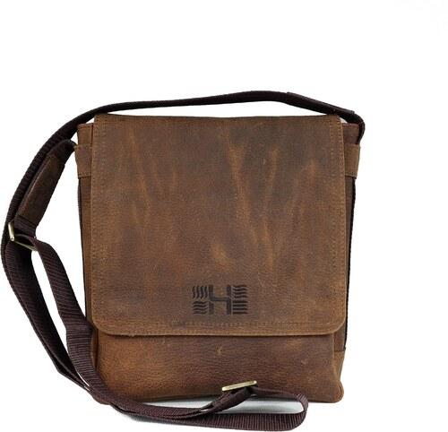 HOFFEbelts kožená taška cez rameno Cross M-Brown - Glami.sk 5574af4ba20