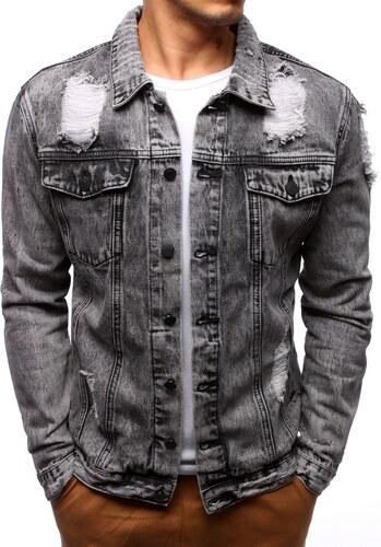 Brand Sivá rifľová bunda pre mužov (tx2186) tx2186 - Glami.sk 81e09ef8b7d