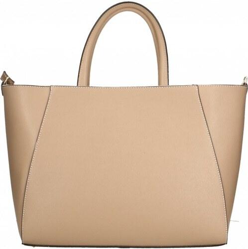 Kožená luxusní růžová kabelka přes rameno daveney VERA PELLE 26084 ... 8b2b31d2030