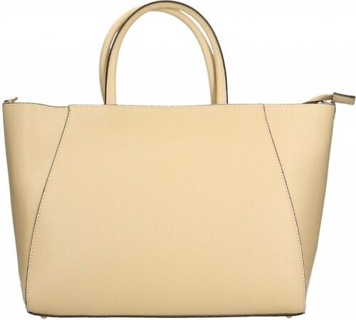 ... Kožená luxusní béžová beige kabelka přes rameno daveney VERA PELLE 26084 c6196f024fc