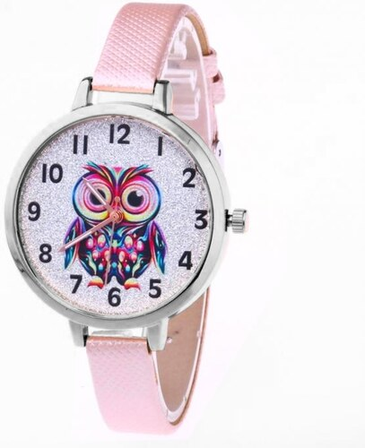 Shim Watch Dívčí hodinky se sovičkou růžové - Glami.cz 63ea330852