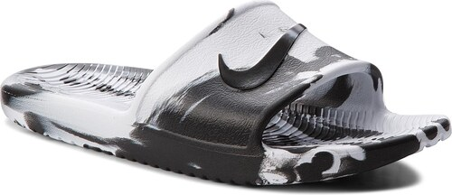 Šľapky NIKE - Kawa Shower Marble AQ0106 100 White Black White - Glami.sk 91cb568142d