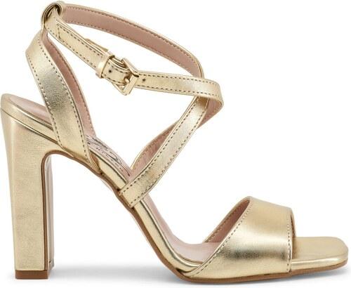 504a47a605a PARIS HILTON Dámské sandály na podpatku Paris Hilton Zlatá - Glami.cz