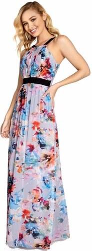 LITTLE MISTRESS Maxi šaty s abstraktným vzorom s prestrihnutím ... d55bb68d8cd