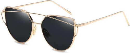 17b750abd Carla Čierno-zlaté slnečné okuliare Glam Rock Fashion - Glami.sk