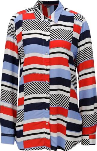 6902d5dbdff Červeno-modrá dámská pruhovaná košile Tommy Hilfiger - Glami.cz