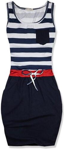 45d8f2152882 Butikovo Modro-biele námornícke šaty maxi pruh - Glami.sk
