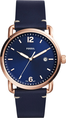 66cee1e49cb Hodinky FOSSIL - The Commuter 3H Date FS5274 Blue Rose Gold - Glami.sk