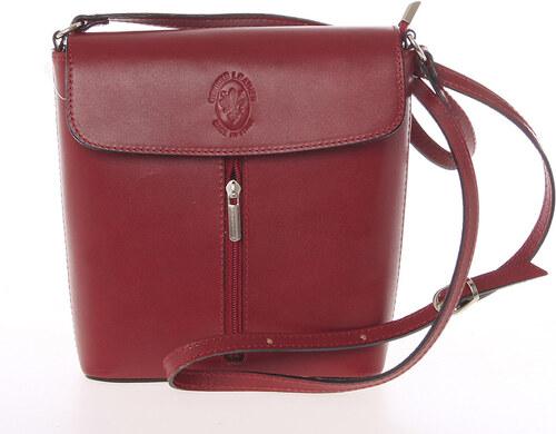 Dámská kožená crossbody kabelka červená - ItalY Marketa červená ... 089f9689e28