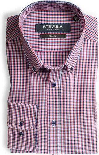 852e63ca6321 -5 € STEVULA Popelínová červeno-modrá košeľa