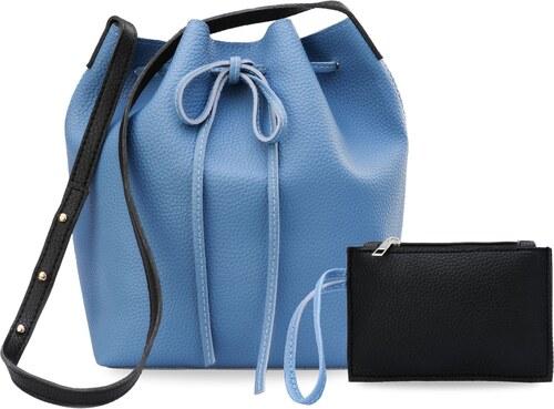 ae9f8719e9 World-Style.cz Dámská kabelka vak shopper bag 2v1 - modrá - Glami.cz