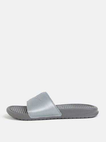 fea4cca90d Sivé dámske šľapky Nike Benassi - Glami.sk
