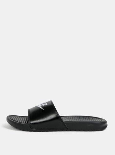 9ef773464980c Bielo–čierne pánske šľapky Nike Benassi - Glami.sk