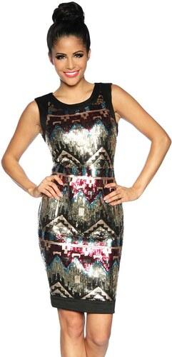 Catwalker Szilveszteri ruha elején flitterekkel díszített - fekete ... a256e658a2