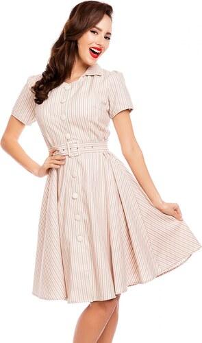 DOLLY AND DOTTY Retro šaty Janie s proužky růžové - Glami.cz 4984875efa