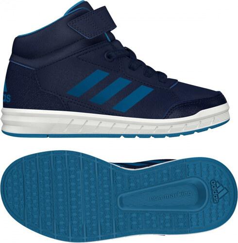 60a8a7cc2b0 Kotníkové boty adidas Performance AltaSport Mid EL K (Tmavě modrá   Světle  modrá   Bílá