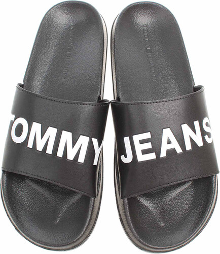 Tommy Hilfiger pánské plážové pantofle EM0EM00105 black EM0EM00105 ... f2883f5904