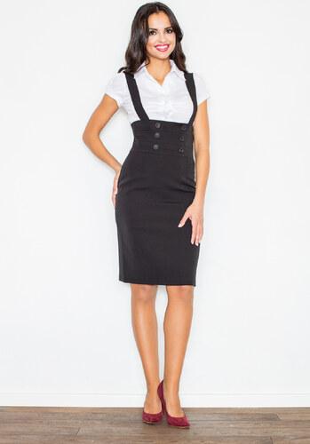 FIGL Dámská černá sukně M010 - Glami.cz e682061bf6