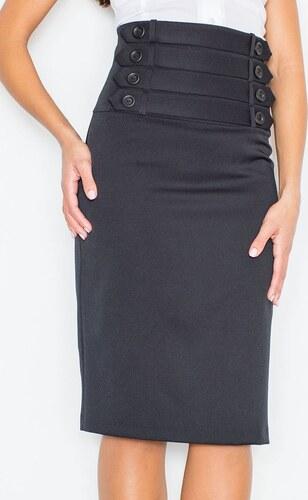 FIGL Vysoká černá sukně M036 - Glami.cz 6da00c9924