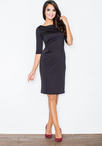 FIGL Čierne business šaty - M202 - Glami.sk da0cba67091
