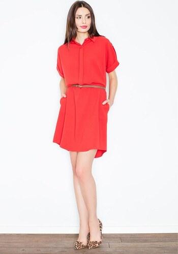 6591baf6cd26 FIGL Dámske červené šaty M442 - Glami.sk