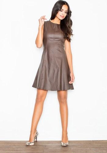 8da87bb1a519 FIGL Bronzové lesklé šaty M342 - Glami.sk