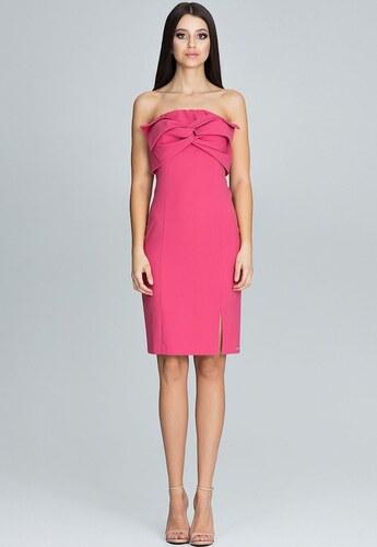 FIGL Elegantné koralové šaty bez ramienok M571 - Glami.sk d3c5b46875c
