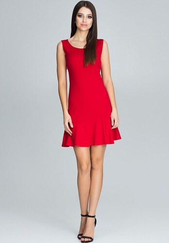 9b1cc3ad03dd FIGL Letné červené šaty bez rukávov M574 - Glami.sk