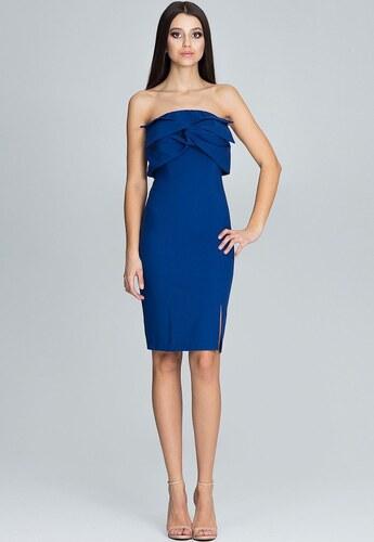 FIGL Elegantné modré šaty bez ramienok M571 - Glami.sk 76b1ee14a5a